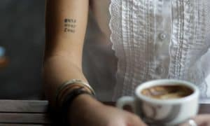 Handwriting tattoos